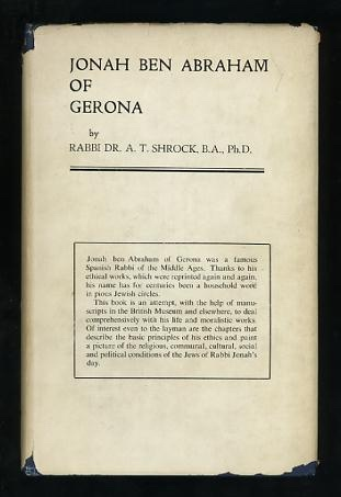 Image for Rabbi Jonah ben Abraham of Gerona: His Life and Ethical Works