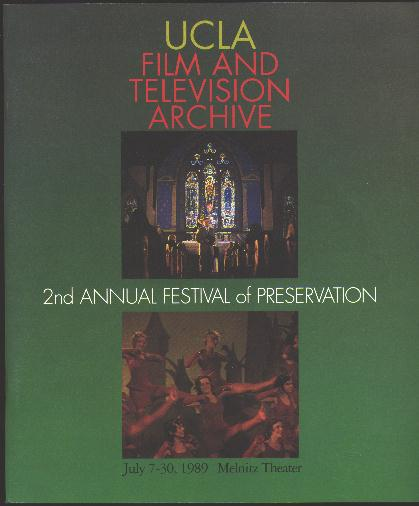 Image for 2nd Annual Festival of Preservation / July 7-30, 1989