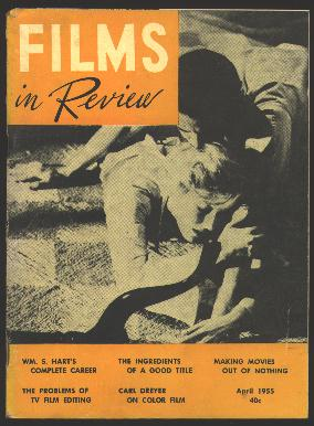 "Image for Films in Review (April 1955) [cover: Glenn Ford and Eleanor Parker in ""Interrupted Melody""]"