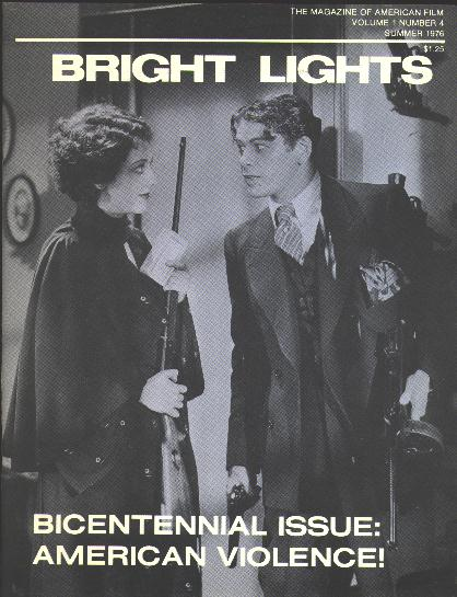 "Image for Bright Lights [magazine] (Summer 1976) [cover: Paul Muni and Ann Dvorak in ""Scarface""]"