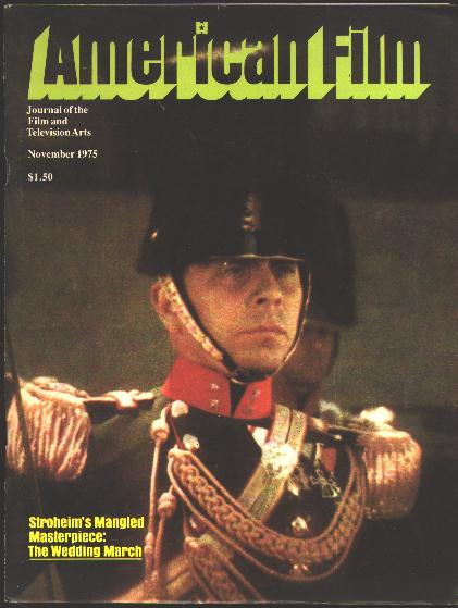 Image for American Film: Journal of the Film and Television Arts [magazine] (November 1975) [cover: Erich von Stroheim]