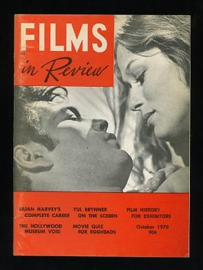 Image for Films in Review (October 1970) [cover: Robert Forster and Lauren Hutton in PIECES OF DREAMS]