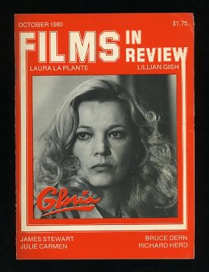Image for Films in Review (October 1980) [cover: Gena Rowlands in GLORIA]