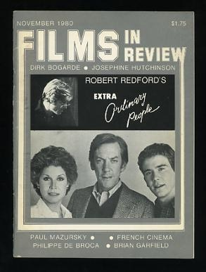 Image for Films in Review (November 1980) [cover: Robert Redford and the cast of ORDINARY PEOPLE]