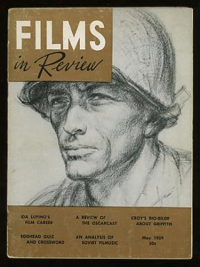 Image for Films in Review (May 1959) [cover: Gregory Peck (in PORK CHOP HILL), drawn by Howard Brodie]