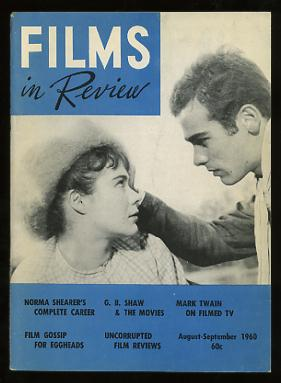 Image for Films in Review (August-September 1960) [cover: Heather Sears and Dean Stockwell in SONS AND LOVERS]