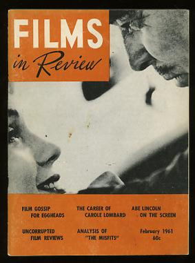 Image for Films in Review (February 1961) [cover: Clark Gable and Marilyn Monroe in THE MISFITS]