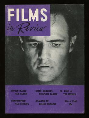 Image for Films in Review (March 1961) [cover: Marlon Brando in ONE-EYED JACKS]