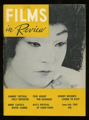 Image for Films in Review (June-July 1962) [cover: Shirley MacLaine in MY GEISHA]
