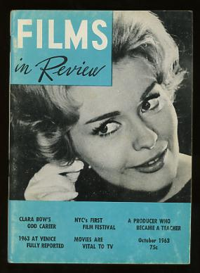 Image for Films in Review (October 1963) [cover: Jean Seberg in IN THE FRENCH STYLE]