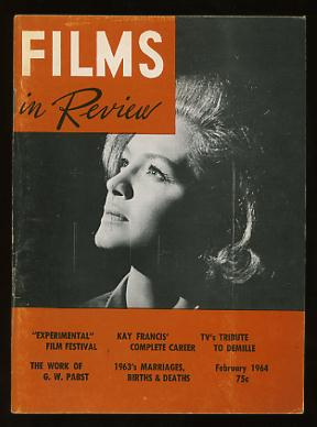 Image for Films in Review (February 1964) [cover: Angie Dickinson in CAPTAIN NEWMAN, M.D.]