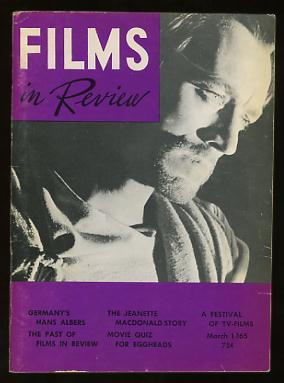 Image for Films in Review (March 1965) [cover: Max von Sydow in THE GREATEST STORY EVER TOLD]