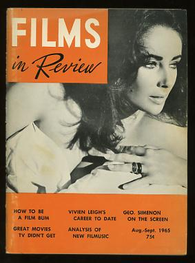 Image for Films in Review (August-September 1965) [cover: Elizabeth Taylor in THE SANDPIPER]