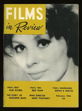 Image for Films in Review (February 1966) [cover: Irina Demick in MALE COMPANION]