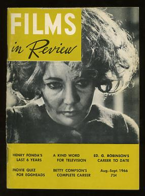 Image for Films in Review (August-September 1966) [cover: Elizabeth Taylor in WHO'S AFRAID OF VIRGINIA WOOLF?]