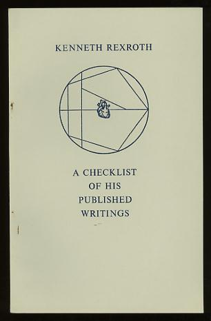 Image for Kenneth Rexroth: A Checklist of His Published Writings