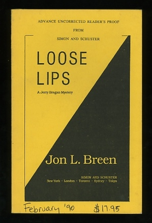 Image for Loose Lips; A Jerry Brogan Mystery [*SIGNED* advance uncorrected reader's proof]