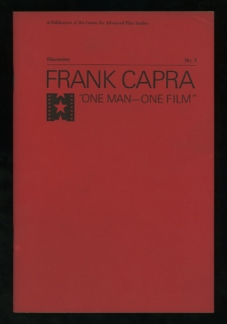 "Image for Frank Capra: ""One Man -- One Film"" (Discussion, No. 3)"