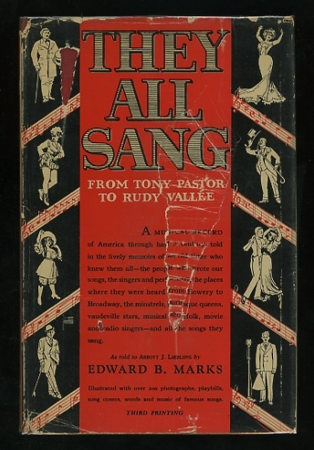 Image for They All Sang: From Tony Pastor to Rudy Vallée