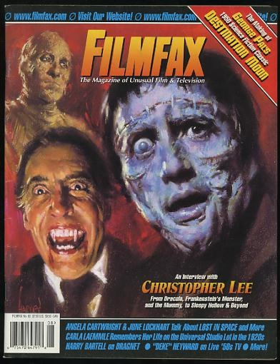 Image for Filmfax, the Magazine of Unusual Film and Television (August/September 2000) [cover: Christopher Lee]