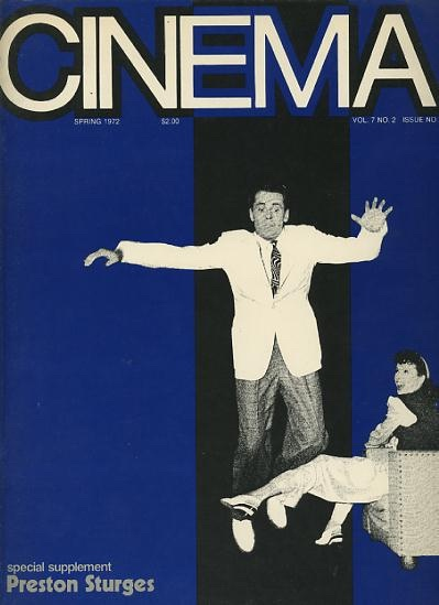 Image for Cinema [magazine] (issue no. 31) (Spring 1972) [Preston Sturges special supplement]