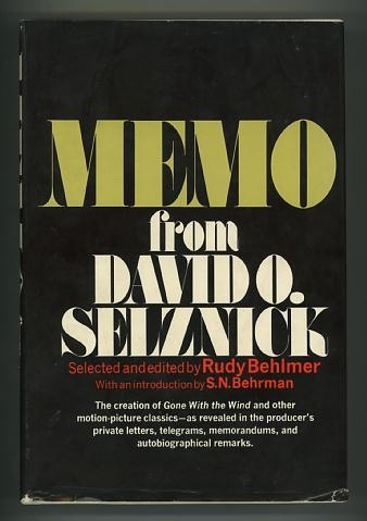 Image for Memo from David O. Selznick