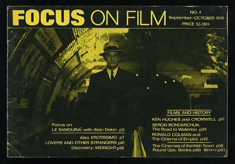Image for Focus on Film (No. 4, September-October 1970) [cover: Alain Delon in LE SAMOURAI]