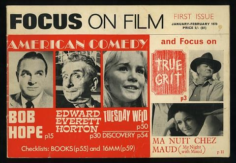 Image for Focus on Film (No. 1, January-February 1970) [cover: American Comedy]