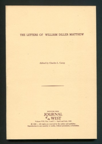 Image for The Letters of William Diller Matthew