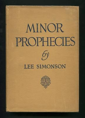Image for Minor Prophecies [*SIGNED*]