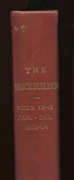 Image for The Brickbuilder [bound volume, 1903-1904]