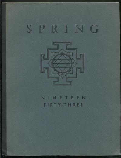 Image for Spring 1953 [on cover: Spring / Nineteen Fifty-Three]
