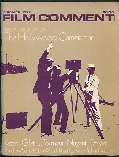 "Image for Film Comment (Summer 1972) [""The Hollywood Cameraman""]"
