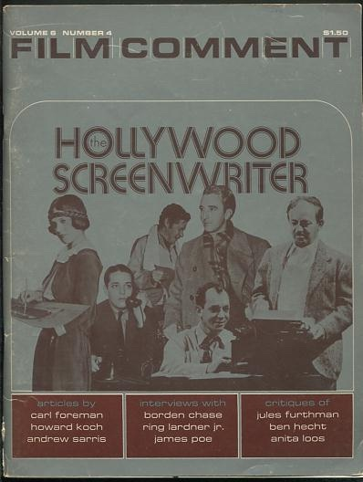 "Image for Film Comment (Winter 1970-71) [""The Hollywood Screenwriter""]"