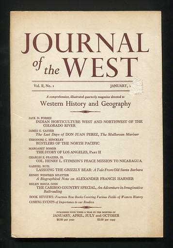 Image for Journal of the West (January 1963)