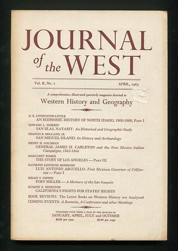 Image for Journal of the West (April 1963)