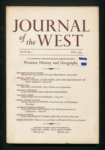 Image for Journal of the West (July 1963)