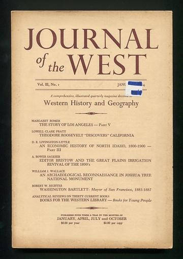 Image for Journal of the West (January 1964)