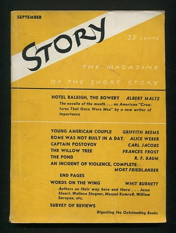 "Image for Story: The Magazine of the Short Story (September 1937) [includes ""Hotel Raleigh, the Bowery"" by Maltz]"
