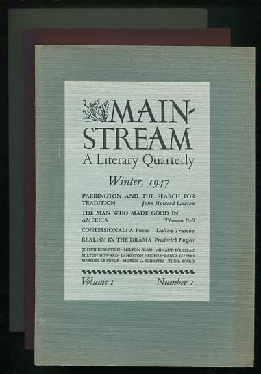 Image for Mainstream: A Literary Quarterly [the first three issues: Winter 1947, Spring 1947, Summer 1947]