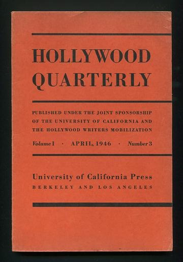 Image for Hollywood Quarterly - April 1946