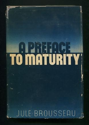 Image for A Preface to Maturity