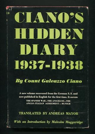 Image for Ciano's Hidden Diary: 1937-1938