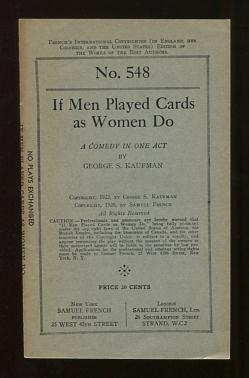Image for If Men Played Cards as Women Do; a comedy in one act