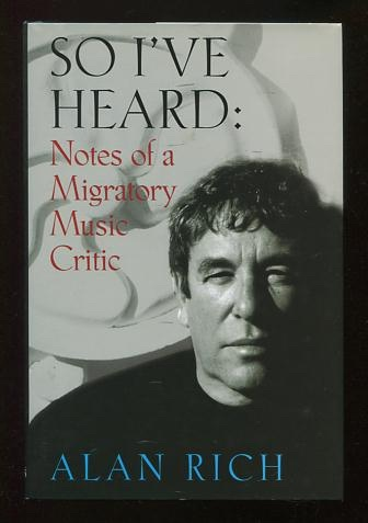 Image for So I've Heard: Notes from a Migratory Music Critic [*SIGNED*]