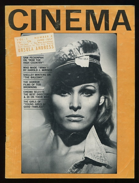 Image for Cinema [magazine] (June-July 1963) [cover: Ursula Andress]