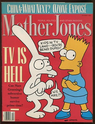 Image for Mother Jones [magazine] (December 1989) [cover: Bart Simpson]