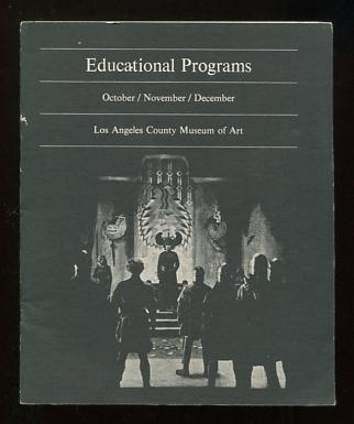 Image for Educational Programs: October/November/December [1969] [includes schedule and program notes for the Museum's retrospective of the films of Fritz Lang]