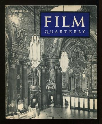 Image for Film Quarterly (Spring 1963) [cover: lobby of the Fox Theatre, San Francisco]