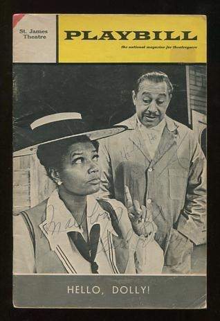 "Image for Playbill - October 1969 [original theatre program for ""Hello, Dolly!"" autographed by Pearl Bailey and Cab Calloway"